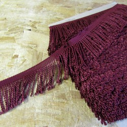 bulion fringe 60mm - burgundy 317