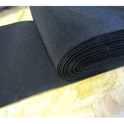 black flat elastic - 150mm ( 6'')