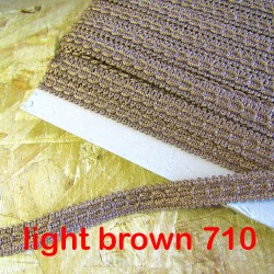 Gimp trim 15mm - light brown 710