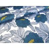 Waterproof fabric -  English Flowers Teal