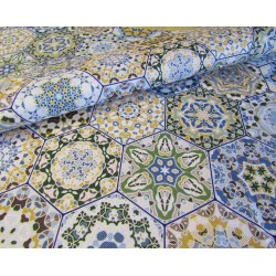 Waterproof fabric -  Portuguese Tiles