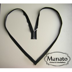 metal zip - size 3- black -50cm -Nickel
