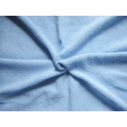 Flexible Terry Toweling Fabric - light blue