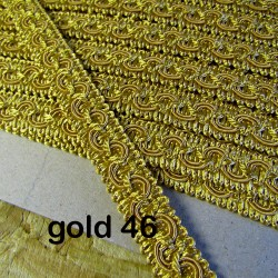 Gimp trim 18mm - gold 46