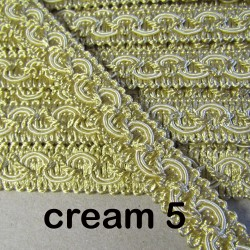 Gimp trim 18mm - cream