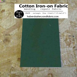 Iron-on  repair fabric - dark green
