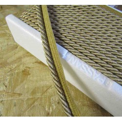 Twisted flanged rope  piping cord 7mm - beige 730