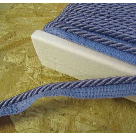 Twisted flanged rope  piping cord 7mm - light indigo 806
