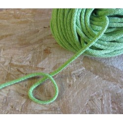 Braided Cotton Cord 5mm - light green