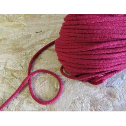 Braided Cotton Cord 5mm - burgundy - 50m