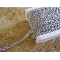 Scroll trim - brocade silver