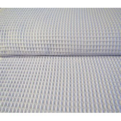 Cotton waffle fabric - light grey