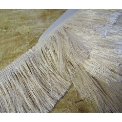 silky cut fringe - ivory - 110mm
