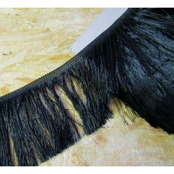 silky cut fringe - gold - 110mm