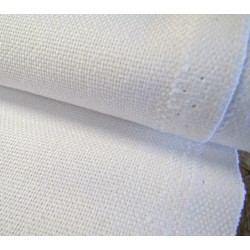 cotton panama fabric - white - 100% cotton