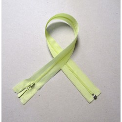 Invisible Zip 40 cm - light yellow - open end zip