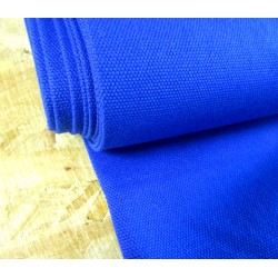 Heavy weight panama fabric - royal blue - 100% cotton