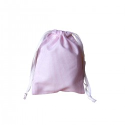 Drawstring bag - pink stripes - optional sizes