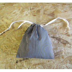 Drawstring bag - black&white stripes - optional sizes