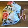 Travel Laundry Bag Set - ROSES ON STRIPES