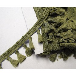 Tassels trim - bottle green 613