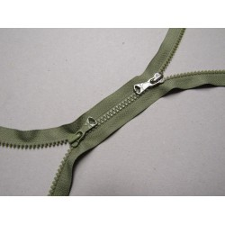 double slider chunky zip - olive - 100cm