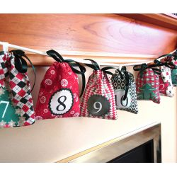 Advent calendar bags set - Traditional Mood