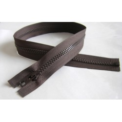 chunky zip - open end - brown -  lengt from 40cm to 55cm