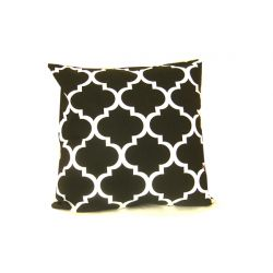 Moroccan Ornament Cushion - black&white