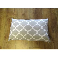 Oblong Cushion - grey& off white