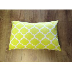 Oblong Cushion - yellow&white