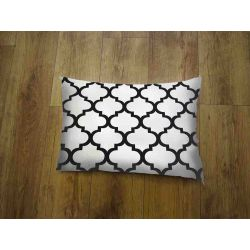 Oblong Cushion - white & black