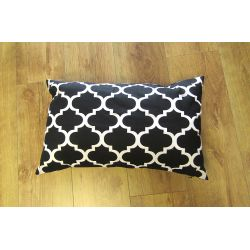 Oblong Cushion - black&white