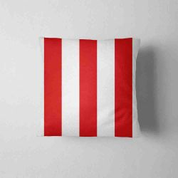 Waterproof Cushion - stripes red&white