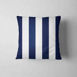 Waterproof Cushion - stripes  navy&white