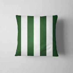 Waterproof Cushion - stripes dark green&white