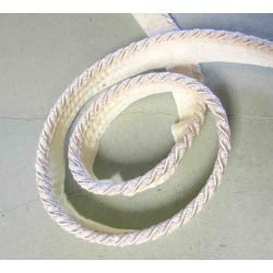 Two tone - Upholstery flanged rope  8mm - ivory