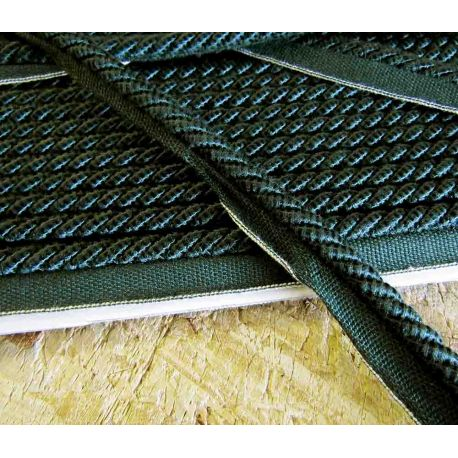 Upholstery lip cord  8mm - dark green , two tone