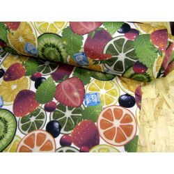 Colorful fruits  - French terry jersey