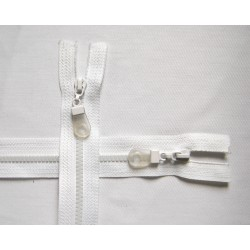chunky zip size 3 - open end - 65cm - white