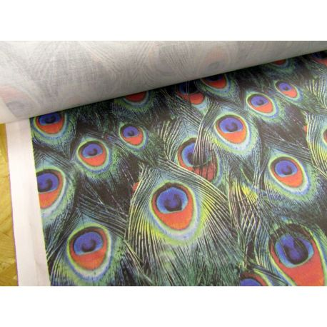 Peacock Feather Curtain - 100% cotton