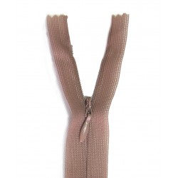 invisible zip cappucino beige - length from 18cm to 60cm