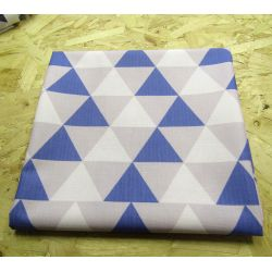 Teal-White-Grey  Triangles - 100% Cotton