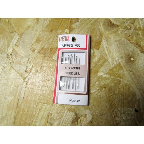 Hand sewing leather needles 6/8  - pack of 3