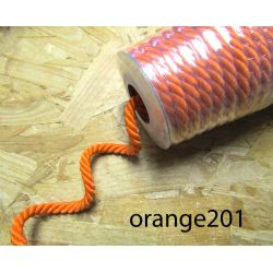 Decorative twisted rope  7mm - orange201