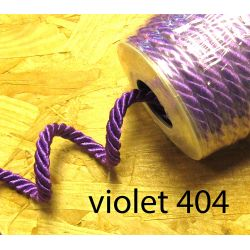 Decorative twisted rope  7mm - violet 404