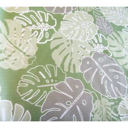 MONSTERA_STROKE_grey green - cotton panama