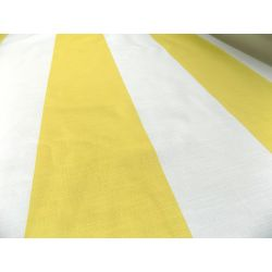 Extra wide stripes -  yellow&white - 100% cotton