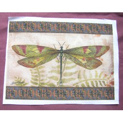 Fabric Panel - Vintage dragonfly