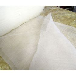 Crushed Tulle fabric - cream